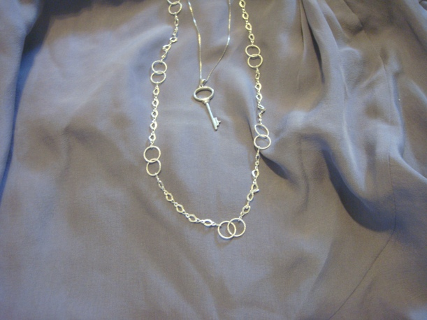 Simple Key Necklace and Link Chain